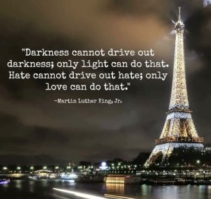 Darkness cannot drive out darkness; only light can do that